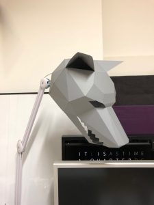Wolf Paper Mask